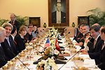 Secretary Kerry Participates in a Working Lunch With Turkish Foreign Minister Davutoglu