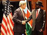 Secretary Kerry Meets With South Sudan President Kiir