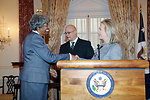 Secretary Clinton Holds a Swearing-In Ceremony for Joyce Barr as Assistant Secretary