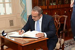 Bahraini Crown Prince Salman bin Hamad Al-Khalifa Signs the Guestbook
