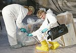 EPA workers clean up residential mercury spill