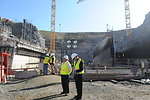 Phase IV Contractors Visit Construction Site