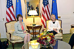 Secretary Clinton Holds a Bilateral Meeting With EU High Representative Ashton