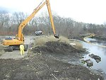 February 2001, Early Action cleanup of PCB contaminated shoreline soils and sediment, Acushnet River, Mass