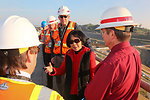 Corps provides tour of Folsom Dam Joint Federal Project to Congresswoman Matsui