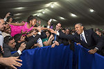 President Obama Stretches to Shake Hands With a Young Girl in Manila