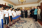 Secretary Clinton Meets With MLB Hall of Famer Cal Ripken, Jr., Japanese Youth Baseball and Softball Players, and Four Coaches