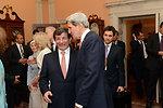 Secretary Kerry Chats With Turkish Foreign Minister Davutoglu