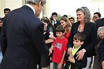 Secretary Kerry Shakes Hands With Embassy Doha Staff and Families
