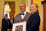 Secretary Clinton With Czech Foreign Minister Schwarzenberg