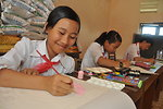 Students in Kon Tum create artwork about the importance of eye care