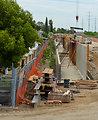 Morrison Creek flood wall July 19, 2012