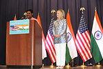 Chief Librarian Naresh Introduces Secretary Clinton