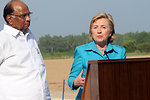 Secretary Clinton Visits Indian Agricultural Research Institute