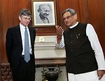 Deputy Secretary of State James Steinberg With Indian Foreign Minister S.M. Krishna