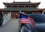 The American Flag Flutters on Secretary Kerry's Car