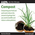 Composting food and yard waste reduces garbage in landfills and carbon pollution. Try it for yourself and #ActOnClimate! http://www.epa.gov/earthday/actonclimate/