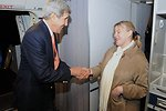 Secretary Kerry Thanks State Department Employee for Travel Assistance