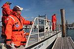 December 3, 2012 - Boat crews depart for shoreline sweep, Lido Beach, Long Island