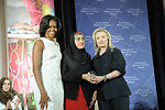 Secretary Clinton and First Lady Obama With 2012 IWOC Award Winner Maryam Durani of Afghanistan