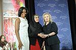 Secretary Clinton and First Lady Obama With 2012 IWOC Award Winner Maryam Durani of Afghanistan