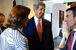 Secretary Kerry Speaks With Colombian Foreign Minister Holguin and Professor Cavallaro