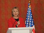 Secretary Clinton Speaks With Reporters