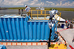 August 6, 'frack tanks' help oil and water separate