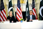 Secretary Clinton With Pakistani Foreign Minister Makhdoom Shah Mahmood Qureshi
