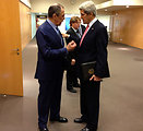 Secretary Kerry and Russian Foreign Minister Lavrov After Their Bilateral Meeting