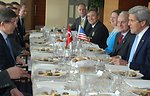 Secretary Kerry Attends a Working Lunch With Turkish Foreign Minister Davutoglu