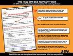 Bee Advisory Box Infographic