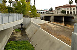 Guadalupe River Project bypass culvert and retaining walls