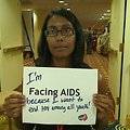 I'm Facing AIDS because I want to end HIV among all youth!
