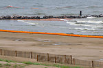 June 4, Natural and manmade boundaries trap oil from the BP Spill