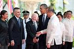 Presidents Obama and Aquino III Speak With Ambassadors Rice, Goldberg, and Cuisia, Jr.