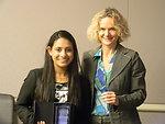 Yamini Naidu and NIDA Director Dr. Nora Volkow