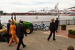 Secretary Clinton and Ambassador Bleich Walk Along the Port of Melbourne