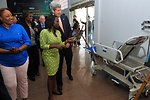 Secretary Kerry Tours Medical Supply Store in Kinshasa Started With Microfinance Program