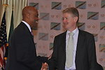 Ambassador Lenhardt Shakes Hands With Irish Deputy Prime Minister Gilmore