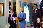 Secretary Clinton With Assistant Secretary Gottemoeller and Assistant Secretary Verma Delivers Remarks on the Ratification of the New START Treaty
