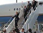 Secretary Clinton Arrives at Tokyo's Haneda Airport