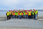 Folsom High School visit Folsom Dam auxiliary spillway construction during National Engineer Week.