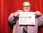 DAILY! FACING AIDS stigma and discrimination.