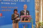 USAID Mission Director Joakim Parker speaks at the Social Work Day event in Hanoi