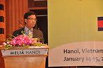 Vietnam's Deputy Transport Minister Truong Van Vien addresses the Lower Mekong Initiative Infrastructure Best Practices Exchange in Hanoi