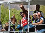 "Fishing barge (""Take a Warrior Fishing"" event at Success Lake)"