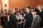 Secretary Clinton Greets Members of the U.S. Embassy Astana Staff