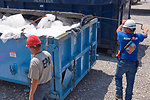 August 6, Inspecting waste containers