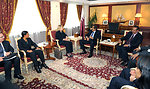 Secretary Clinton Meets With Qatari Amir Hamad bin Khalifa al-Thani